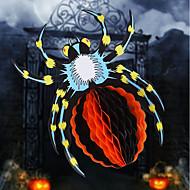Ontwerp is willekeurig halloween 3d papier bloem scène spinnen kleuterschool halloween hanger accessoires opknoping ornamenten halloween