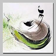 baratos -Pintados à mão Abstrato Abstracto Modern 1 Painel Tela Pintura a Óleo For Decoração para casa