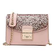 Women Bags PU Shoulder Bag for Event/Party Casual Formal Outdoor Office & Career All Seasons Blue Black Blushing Pink