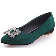 cheap Women's Flats-Women's Shoes PU Summer Comfort Flats Flat Heel Round Toe Beading for Casual Black Beige Red Dark Green