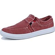 tanie Obuwie męskie-Męskie Buty Jeans Wiosna Jesień Comfort Tenisówki na Casual Gray Brown Czerwony Niebieski