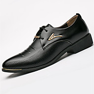 Homme Chaussures Microfibre Printemps Eté Automne Hiver Chaussures formelles Oxfords Rivet Pour Décontracté Noir Marron