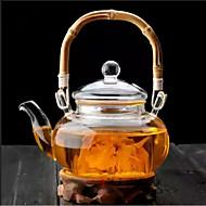 500ml Bambusgriff hohe Borosilikatglas Teekanne drinkware
