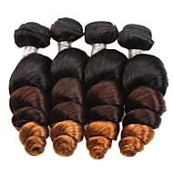 Ombre Brasilialainen Löysä laine 6 kuukautta 4 hiukset kutoo kg Nopeat irtohiukset