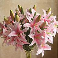 1 Gren Plastikk Liljer Bordblomst Kunstige blomster