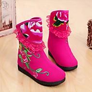 女の子 靴 コットン 冬 スノーブーツ ブーツ ブーティー/アンクルブーツ 用途 カジュアル フクシャ レッド グリーン ブルー