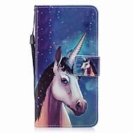 tok Για Apple iPhone 7 / iPhone 7 Plus Πορτοφόλι / Θήκη καρτών / Ανοιγόμενη Πλήρης Θήκη Μονόκερος Σκληρή PU δέρμα για iPhone 7 Plus / iPhone 7 / iPhone 6s Plus