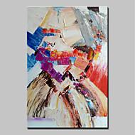 billige -Hang malte oljemaleri Håndmalte - Abstrakt Abstrakt Moderne Lerret