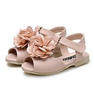 お買い得  女の子用靴-女の子 靴 レザーレット 夏 コンフォートシューズ サンダル サテンフラワー / フラワー のために ベージュ / ピンク / ライトブルー
