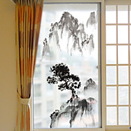 Window Film Window Decals Style Bamboo Grind Arenaceous PVC Window Film- (60 x 116)cm
