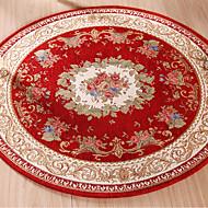 tapis jacquard rond tapis de sol absorbant l'eau solide tapis confortable pour chambre salon salon