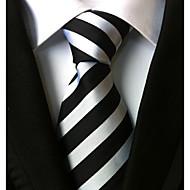 ieftine -Bărbați Cu Dungi Toate Sezoanele Dungi Cravată Alb