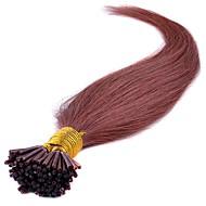 vegyes hosszúságú 16-24 hüvelykes 100% -os valódi botos hegy hajhosszabbítások brazil emberi haj i tip kiterjesztés 40-50g