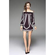 Žene Izlasci Slatko Ležerne prilike Tunika Haljina Jednobojni Spuštena ramena Iznad koljena