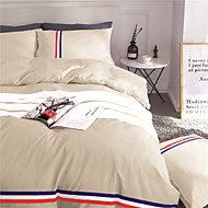 cheap Solid Duvet Covers-Duvet Cover Sets Solid 4 Piece Polyester Reactive Print Polyester 4pcs (1 Duvet Cover, 1 Flat Sheet, 2 Shams)