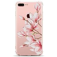 Käyttötarkoitus iPhone X iPhone 8 kotelot kuoret Läpinäkyvä Kuvio Takakuori Etui Kukka Pehmeä TPU varten Apple iPhone X iPhone 8 Plus