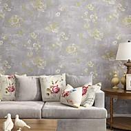 Blomstret Trykt mønster Tapet til Hjemmet Klassisk Tapetsering , U-vevet stoff Materiale selvklebende nødvendig bakgrunns , Tapet