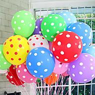 20kpl / lot lateksipallot 12 tuuman polka-piste hääkoriste ilmapalloja