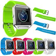 billiga Smart klocka Tillbehör-Klockarmband för Fitbit Blaze Fitbit Modernt spänne Rostfritt stål Silikon Handledsrem