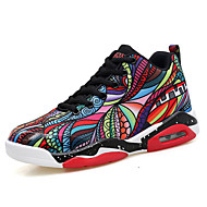 Men's Athletic Shoes Comfort Fall Fabric Basketball Shoes Athletic Outdoor Flat Heel Black/Red Black/Silver Flat