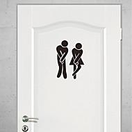 preiswerte -Cartoon Design Mode Personen Wand-Sticker Flugzeug-Wand Sticker Dekorative Wand Sticker Stoff Haus Dekoration Wandtattoo