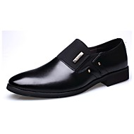 Men's Loafers & Slip-Ons Comfort Spring Summer Fall Winter Leather Casual Office & Career Low Heel Brown Black Under 1in