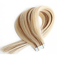 Seamless Human Hair Invisible Tape in Human Hair Extensions Mixed Blonde Color Doulbe Side Skin Weft 20PCS 14inch-24inch