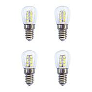 4 stk 2W E14 LED-globepærer 26 leds SMD 2835 Varm hvit Hvit 160lm 3000-6500K AC 220-240V
