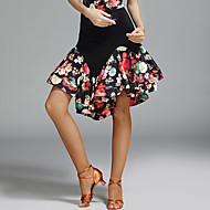 cheap Dancewear & Dance Shoes-Latin Dance Tutus & Skirts Women's Performance Spandex Ice Silk Pattern / Print Natural Skirts