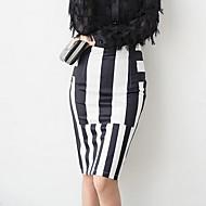 Γυναικεία Εφαρμοστό Κομψό στυλ street Αργίες / Εξόδου Φούστες - Ριγέ Σκίσιμο
