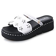baratos -Feminino Sapatos Couro Ecológico Primavera Verão Conforto Gladiador Sandálias Rasteiro Dedo Aberto Para Social Branco Preto Khaki