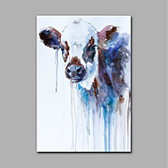 Pintados à mão Animal Vertical,Modern 1 Painel Tela Pintura a Óleo For Decoração para casa