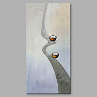 billiga Abstrakta målningar-Hang målad oljemålning HANDMÅLAD - Abstrakt Artistisk Duk / Sträckt kanfas