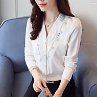 Bluza Žene Rad Jednobojni V izrez Poliester