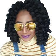 Vri Fletting 1 stk / pakke Hårfletter Heklede fletter hoppe Curl Krøllete Weave 8 tommer Ombre hårfletter Jamaican Syntetisk Rødbrun