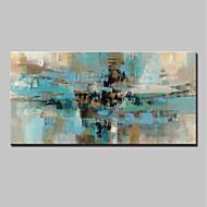 halpa -Maalattu Abstrakti Horizontal,Abstrakti Moderni 1 paneeli Kanvas Hang-Painted öljymaalaus For Kodinsisustus