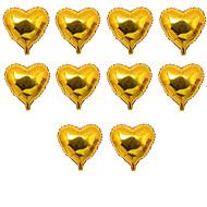 10pcs / set - 10inch gouden hartvormige ballonnen beter geschenken® diy party decoratie