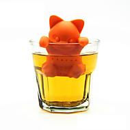 catador de chá de gato de desenhos animados infusor de chá de silicone lindas ferramentas de chá de gatinho de laranja