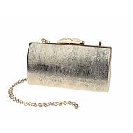 billige Designer Evening Bags-Dame Poser PVC Aftenveske Drapert Svart / Sølv / Rød