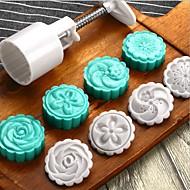billige Bakeredskap-Bakeware verktøy Plastikker baking Tool / 3D / Kreativ Kjøkken Gadget Til Småkake / Sjokolade / For kjøkkenutstyr Rund Cookieverktøy 5pcs