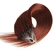 mikro silmukka rengas 100% todellinen remy ihmisen hiukset laajennukset 100s / pack mikro silmukan hiukset laajennukset grammy 16-24inch