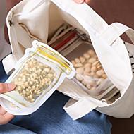 4-delige gele pot patroon reizen transparante zelfsluitende voedsel zak set
