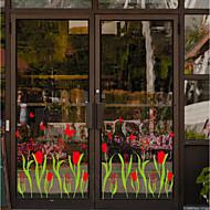 Blomstret Tapet til Hjemmet Retro Rød Tapetsering , PVC/Vinyl Materiale Selvklebende bakgrunns , Tapet