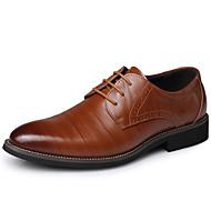 abordables Oxfords pour Homme-Homme Chaussures Formal Cuir Automne / Hiver Business Oxfords Noir / Marron / Bleu / Soirée & Evénement / Lacet / Soirée & Evénement