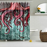 cheap Shower Curtains-Shower Curtains & Hooks Polyester Skull Hand Made