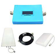 intelligent gsm 900mhz w-cdma 2100mhz mobiltelefon signal booster 2g 3g signal repeater med panel antenne / log periodisk antenne / blå /