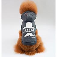 Cachorro Camisola com Capuz Roupas para Cães Casual Geométrico Cinzento Vermelho
