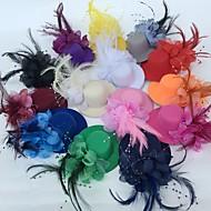 Χαμηλού Κόστους -Τούλι / Φτερό Γοητευτικά / Λουλούδια / Καπέλα με Φλοράλ 1pc Γάμου / Ειδική Περίσταση / Πάρτι / Βράδυ Headpiece