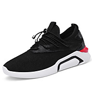 Women's Shoes Leatherette Spring Fall Comfort Athletic Shoes Walking Shoes Platform Round Toe For Casual Outdoor Black