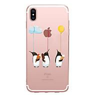 billiga Mobil cases & Skärmskydd-fodral Till Apple iPhone X / iPhone 8 Genomskinlig / Mönster Skal Leka med Apple-loggan / Djur Mjukt TPU för iPhone X / iPhone 8 Plus / iPhone 8